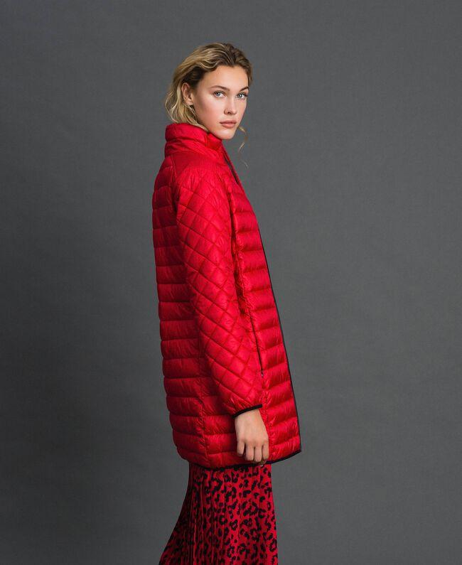 Doudoune longue ultra-légère Rouge Coquelicot Femme 192MP2101-01