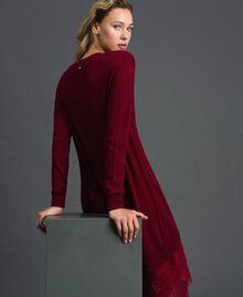Abito in maglia con sottoveste in crêpe e pizzo Red Velvet Donna 192TT3084-03