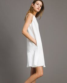 Linen envers satin flounce dress White Snow Woman 191TT2304-02