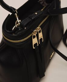 Large faux leather New Cécile bag Nougat Beige Woman 201TO8180-02