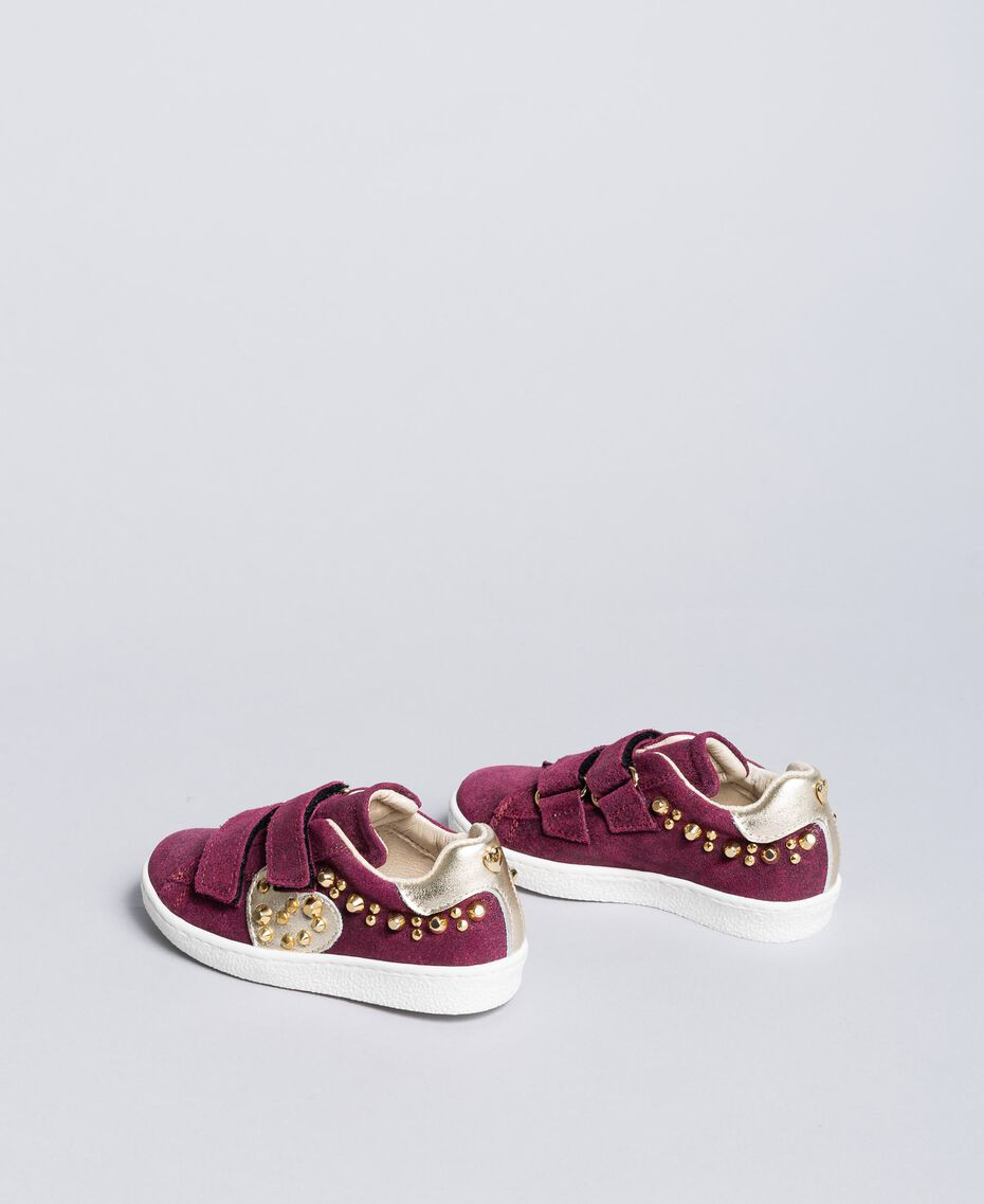 "Sneakers scamosciate con rivetti Viola ""Sweet Grape"" Bambina HA86BQ-03"