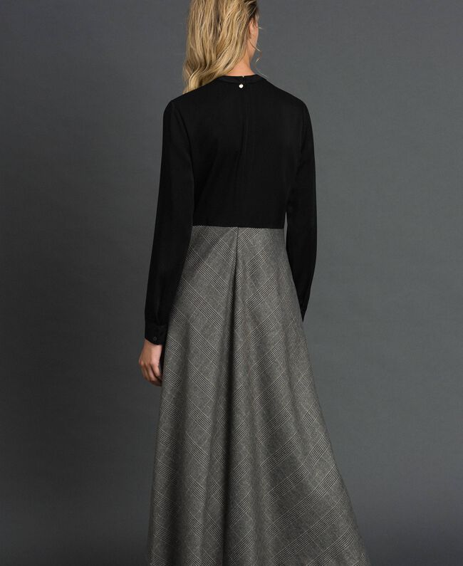 Cady and glen plaid dress Lurex Dark Grey Wales Design Woman 192TT2448-03