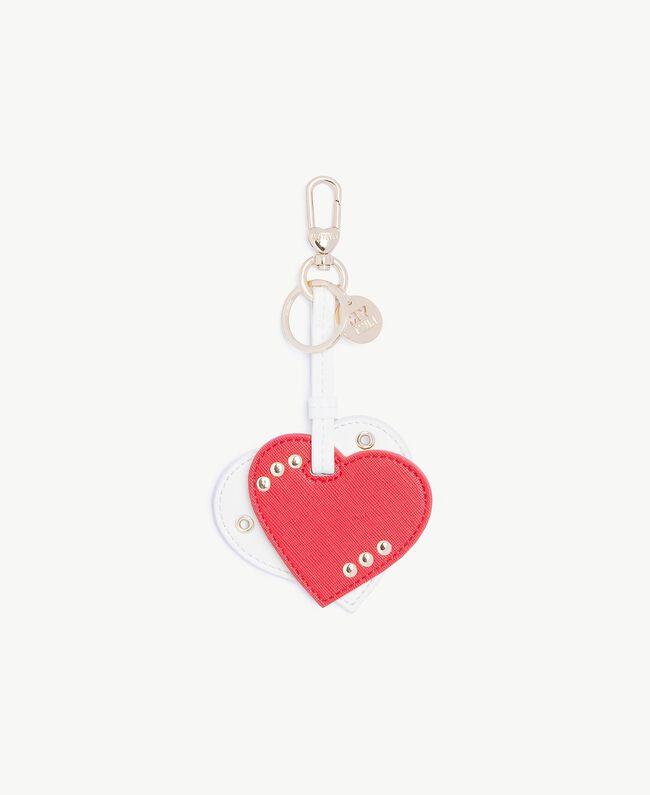 Porte-clés cœur Bicolore Rubis / Blanc Optique Femme RS8TDN-01