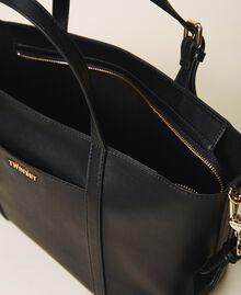 Faux leather shopping bag Black Woman 202TD8110-05
