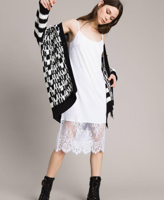 Lace slip dress Black Woman 191TP260H-01