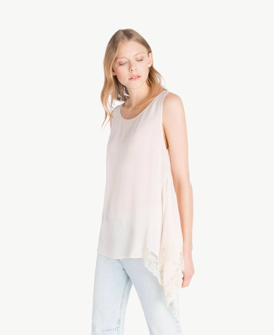 Lace blouse Pale Ecru Woman PS828Q-05