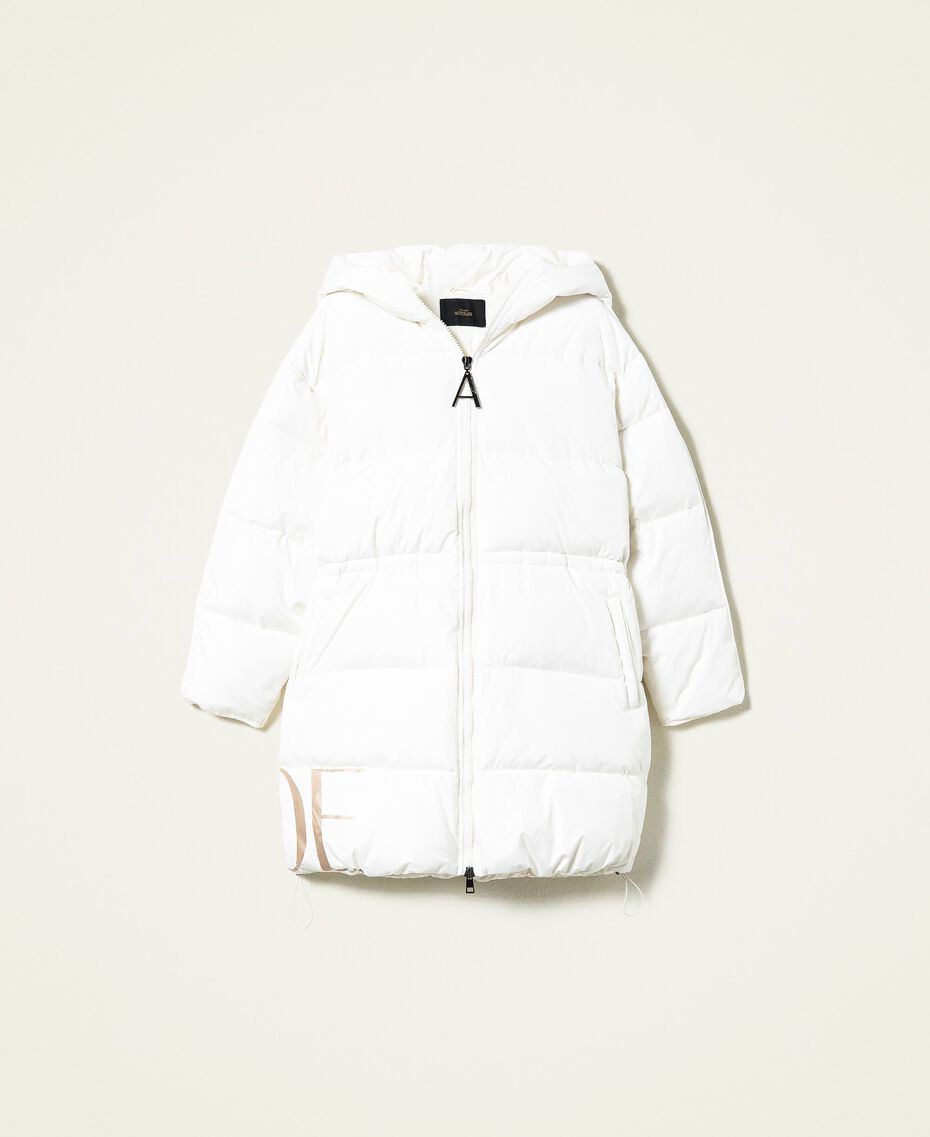 'Alum' puffer jacket with logo print Mother Of Pearl Woman 212AT2040-0S