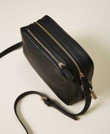 Shoulder bag with dual compartment Black Woman 202TB7032-04
