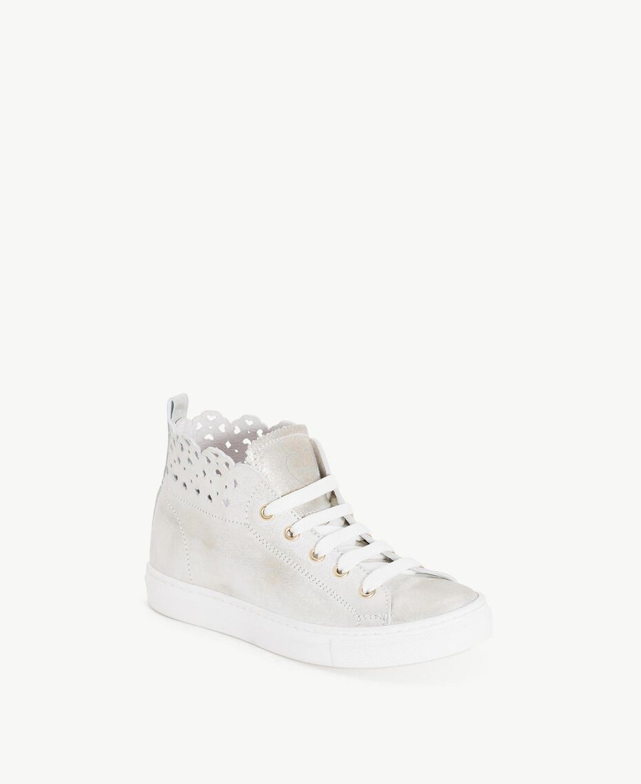 Scalloped sneakers Platinum Child HS88CN-02