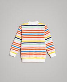 Mehrfarbiger gestreifter Pullover Streifen Multicolour Kind 191GB2220-0S