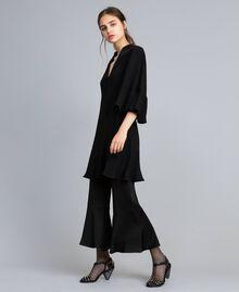 Envers satin dress Black Woman TA824C-0T