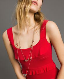 "Multi-string necklace with beads Multicolour ""Lipstick Red"" Woman 191TO5342-0S"