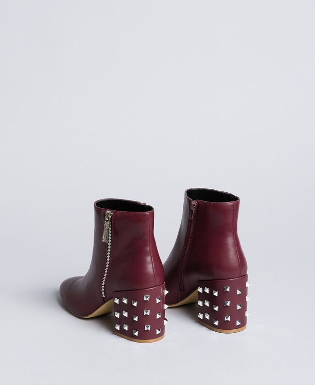 Faux leather ankle boots Bordeaux Woman DA8PJ1-03
