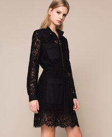 Macramé lace dress Black Woman 201TP2196-02