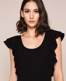 Sheath dress with frills Black Woman 201ST2149-05