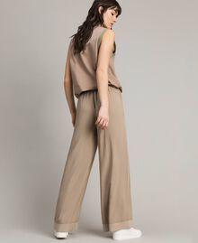 "Viscose palazzo trousers ""Grey Dust"" Woman 191LL35SS-03"