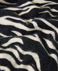 Animal print scarf Black / Cream White Zebra Print Woman 202MA4333-02