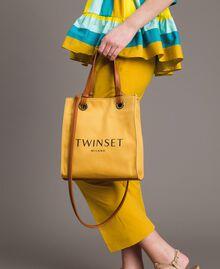 """Kleiner Shopper aus Canvas mit Logo """"Honey Gold"""" Frau 191TO8201-0S"""