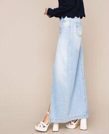 Длинная джинсовая юбка Синий Деним женщина 201MP2282-02