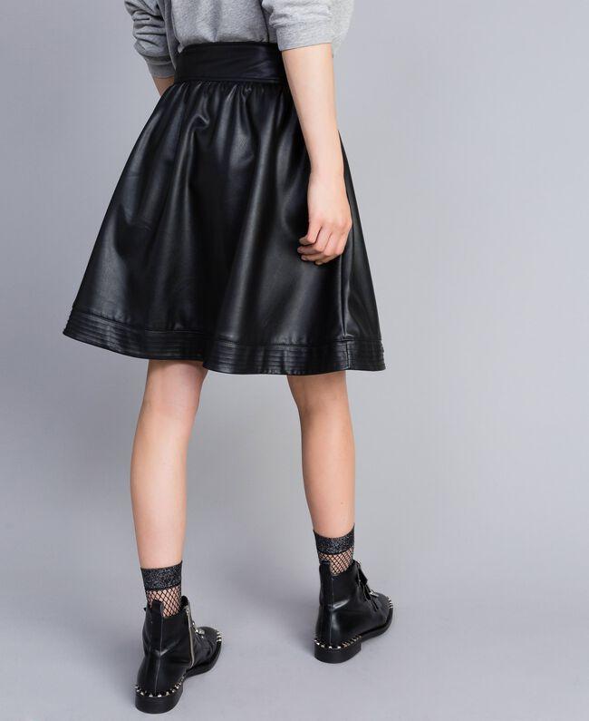 Faux leather full skirt Black Woman JA82DC-03