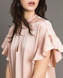 """Teardrop opening blouse """"Nude"""" Beige Woman 191TP2694-04"""