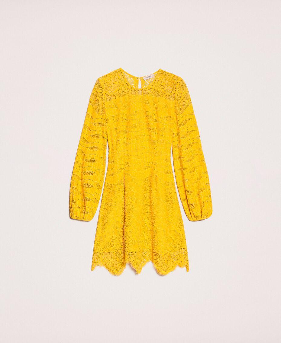 Robe en dentelle macramé Miel Femme 201TP2031-0S