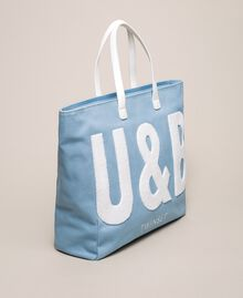 "Logo beach bag ""Waterfall"" Blue Woman 201LB79BB-03"