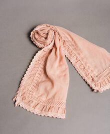 "Musselin-Schal aus Baumwolle ""Pink Bouquet"" Pink Frau 191LB4ZAA-01"