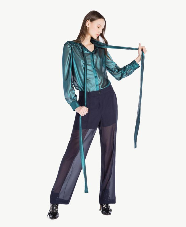 Drainpipe trousers Dark Blue Woman PS823A-05