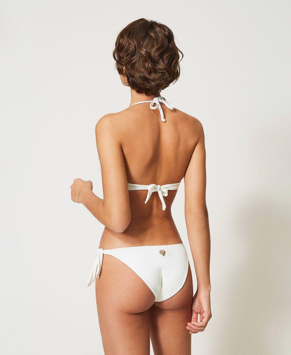 Bikinitanga mit Schleifen Elfenbein Frau 211LMM388-03