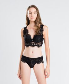 Slip en dentelle festonnée Noir Femme IA8C66-0S