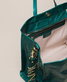 Sac cabas en cuir avec logo Python Femme 201TA7090-05