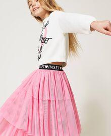 """Long tulle skirt """"Rose Bloom"""" Pink Child 211GJ2271-01"""