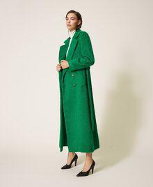 Manteau long en drap brossé Python Femme 202TP2601-02
