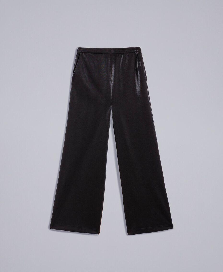 Pantaloni palazzo in tessuto tecnico Nero Donna IA85CC-0S