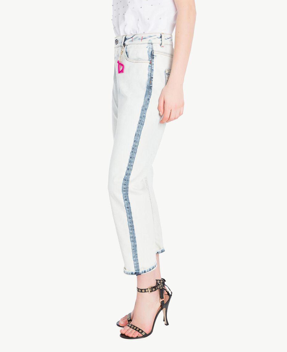 Girlfriend-Jeans Denimblau Frau YS82XZ-02