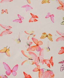 Georgette scarf with butterflies All Over Pink Butterflies Print Woman 191TO530G-02