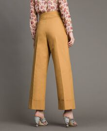 """Technical cotton trousers """"Mid Tan"""" Brown Woman 191TP2181-04"""