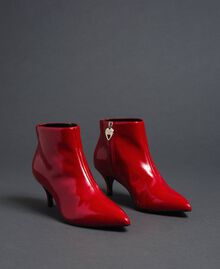 Patent leather ankle boots Poppy Red Woman 192MCT052-02