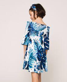 Kleid mit tropischem Print Print Tropical Tupfen Grün Kind 201GJ2302-03