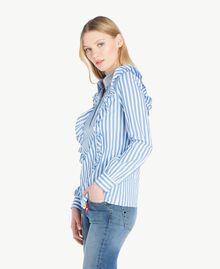 Hemd mit Streifen Multicolor-Nadelstreifen Topasazur Frau JS82DS-02