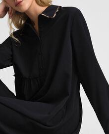 Robe chemisier avec sequins Noir Femme 192ST209C-03