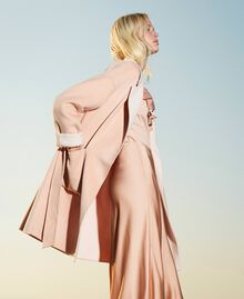 """Double wool cloth reversible coat Two-tone """"Nude"""" Pink /""""Blush"""" Pink Woman 202MP211A-03"""