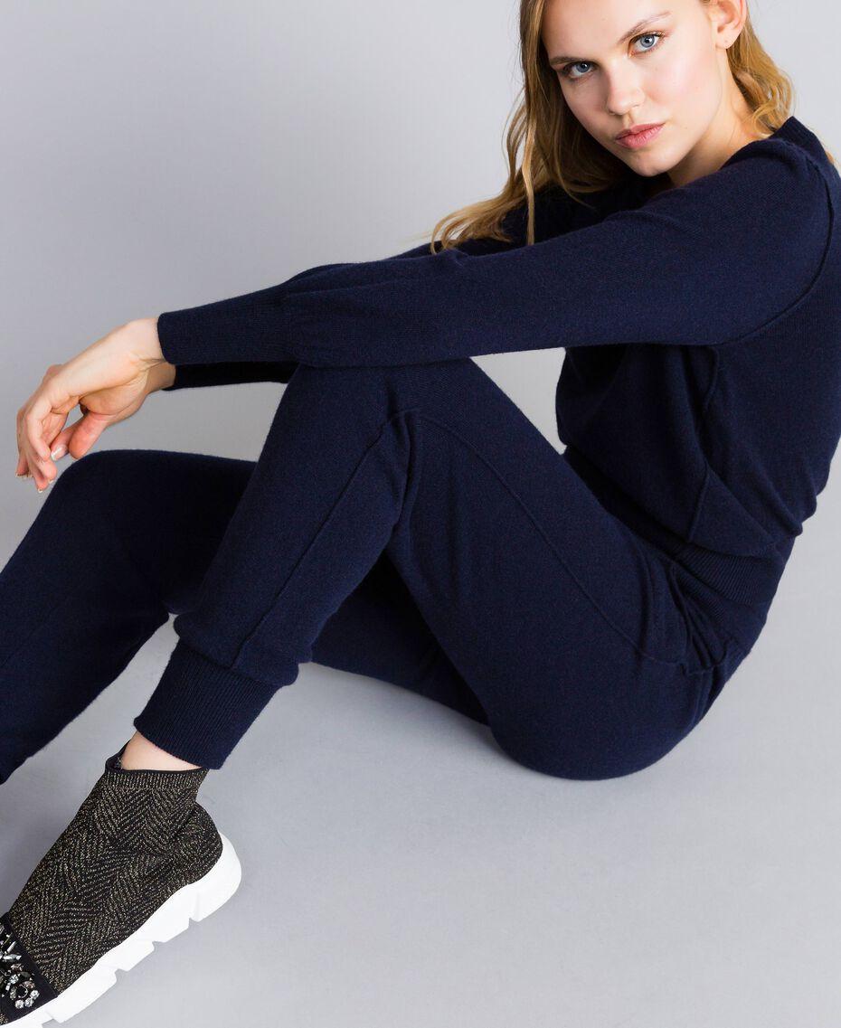 Sneakers aus Stretchgewebe mit Chatons Schwarz Frau CA8TNC-0S