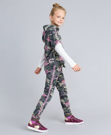 Sweat en coton stretch imprimé Imprimé Camouflage / Paillettes Enfant GA82N1-02