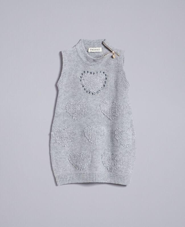 Mini dress with hearts Light Gray Mélange Child FA83DA-01