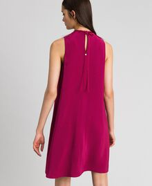 Georgette dress with removable jewel Beet Red Woman 192TP2111-03