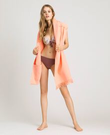 "Terrycloth beach towel with logo ""Tangerine Cream"" Pink Woman 191LB4ZFF-0T"