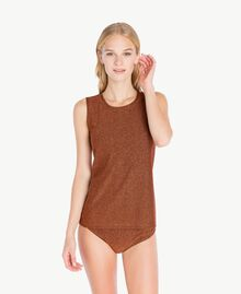 Lurex tank tops Copper / Black IA7WAA-02