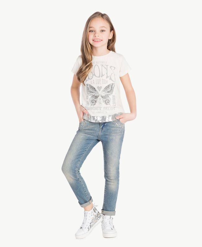"""Jean skinny Bleu """"Denim Moyen"""" Enfant GS82T3-06"""